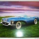 1954 Buick Wildcat II Convertible car print (blue, no top)