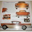 1957 Buick Roadmaster 2 Dr Ht car print (bronze & white)