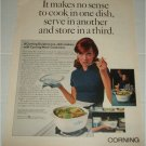 1968 Corning Ware Cookware ad