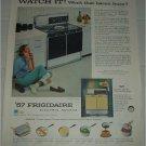 1957 Frigidaire Electric Range ad