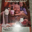 1985 Hamilton Beach Drinkmaster ad featuring Mickey Rooney