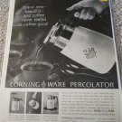 1961 Corning Ware Percolator ad