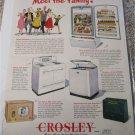 1949 Crosley Appliances ad