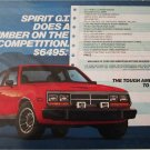 1983 American Motors Spirit GT 2 dr sedan car ad