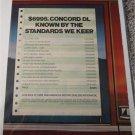 1983 American Motors Concord DL 4 dr sedan car ad #2