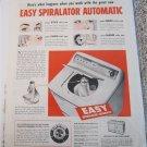1953 Easy Spiralator Automatic Washer ad