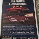 1985 American Motors Jeep Comanche Pickup truck ad