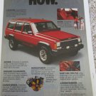 1986 American Motors Jeep Cherokee How Why ad