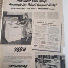 1950 Frigidaire Thrifty-30 Electric Ranges ad