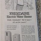 1951 Frigidaire Electric Water Heater ad