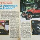 1913 Apperson Jackrabbit car article