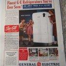 1940 GE Refrigerator ad