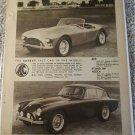 1958 AC Ace Roadster & Aceca ht car ad