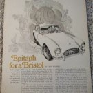 1969 AC Bristol car article