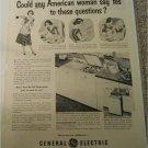 1951 GE Dishwasher ad