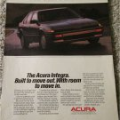 1986 Acura Integra car ad