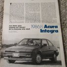 1986 1/2 Acura Integra car article