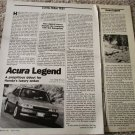 1987 Acura Legend Long Term Test car article #2
