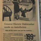 1956 GE Electric Dishwasher Christmas ad
