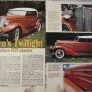 1934 Auburn 652Y Phaeton car article