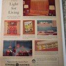1957 GE Electric Lighting ad