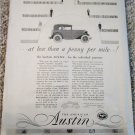 1930 American Austin 2 dr sedan car ad