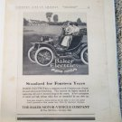1911 Baker Electric Roadster car ad
