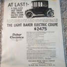 1915 Baker Electric Coupe car ad