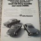 1971 Alfa Romeo Lineup car ad