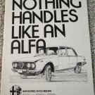 1973 Alfa Romeo 2000 Berlina 4 dr sedan car ad