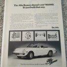 1975 Alfa Romeo Spider Veloce Convertible car ad