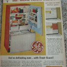 1962 GE Spacemaker Refrigerator ad