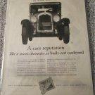 1927 Buick A Cars Reputation car ad
