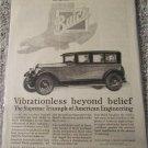 1927 Buick 4 dr sedan Vibrationless Beyond Belief car ad