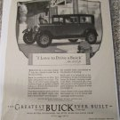 1927 Buick 4 dr sedan I Love To Drive A Buick car ad