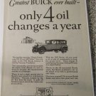 1927 Buick 4 dr sedan Only 4 Oil Changes A Year car ad