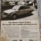 1978 Alfa Romeo Sport Sedan car ad