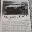1981 Alfa Romeo GTV6 2.5 car article