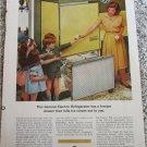 1963 GE Refrigerator Model TC-479X ad (yellow)