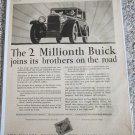 1928 Buick 2 Millionth Buick car ad