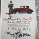 1928 Buick 2 dr coupe More Women Drive Buicks car ad