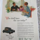1928 Buick 2 dr coupe & 4 dr sedan car ad