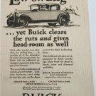 1928 Buick 4 dr sedan Low-Swung car ad
