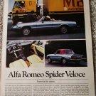 1981 Alfa Romeo Spider Veloce convertible car article
