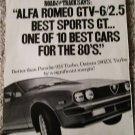 1981 Alfa Romeo GTV-6/2.5 car ad