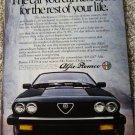 1983 Alfa Romeo GTV-6 car ad