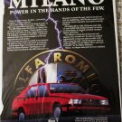 1987 Alfa Romeo Milano 4 dr sedan Power In The Hands car ad