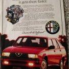 1987 Alfa Romeo Milano 4 dr sedan Even When It Doesnt Race car ad