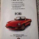 1989 Alfa Romeo Spider car ad