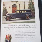 1929 Buick 4 dr sedan People Who Know car ad